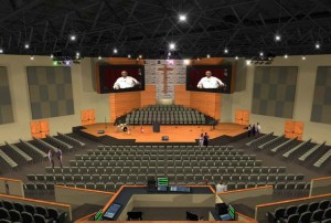 Crossroads Woodlands auditorium.