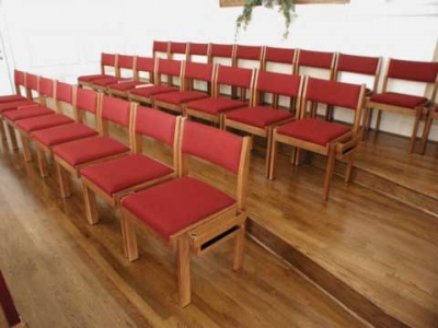 Oak Lock choir chairs