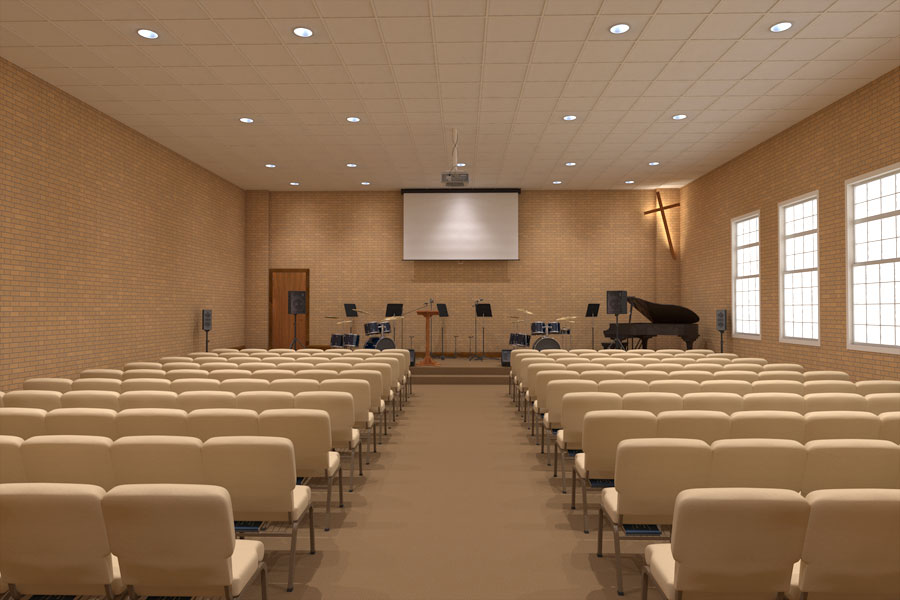 Church Interiors Chair Rendering Inc