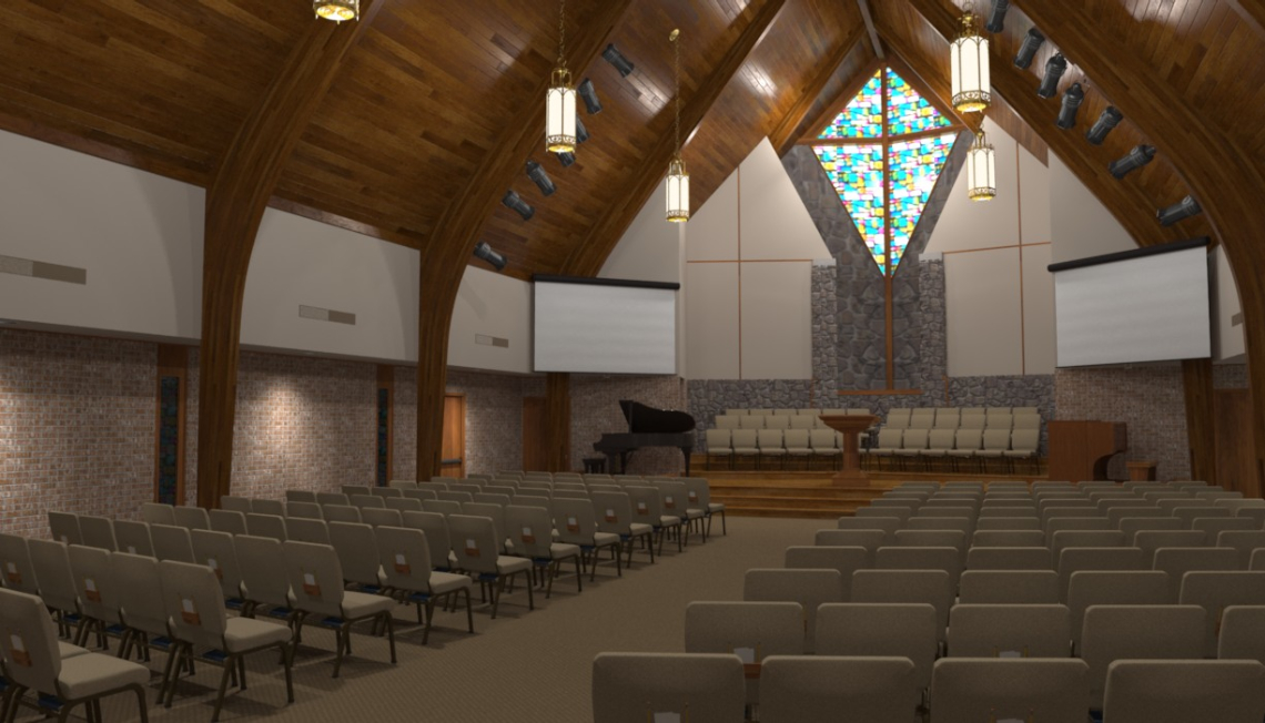 Contemporary renovations of church sanctuary for Church interior designs pictures