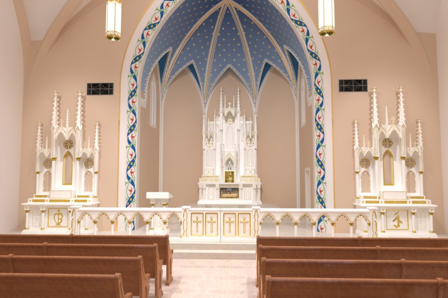 Catholic church renovations remodeling restoration church interiors for Church interior designs pictures