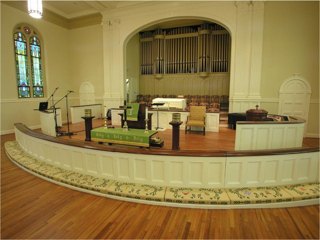 Traditional church sanctuary renovations church interiors for Traditional church floor plans