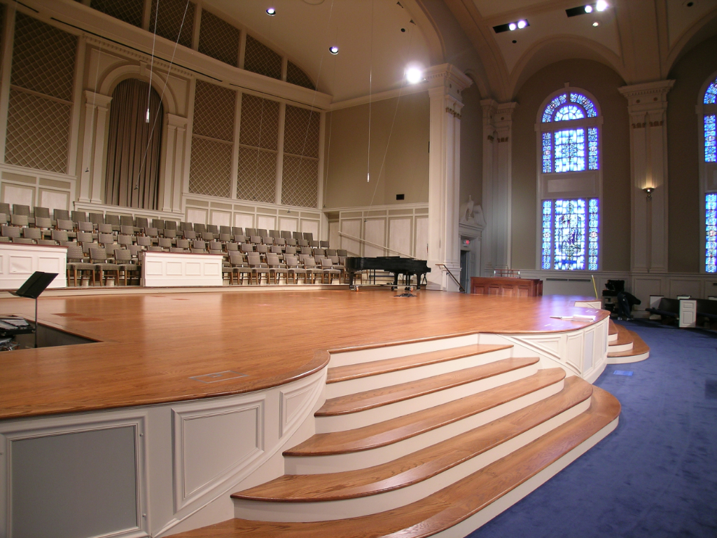 hardwood flooring church interiors