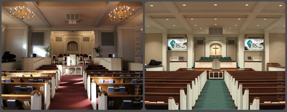 Before Amp After Comparison Images Of Projects By Church