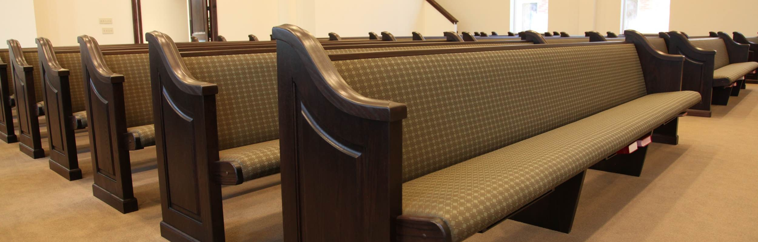 10 new pews - Small Church Sanctuary Design Ideas