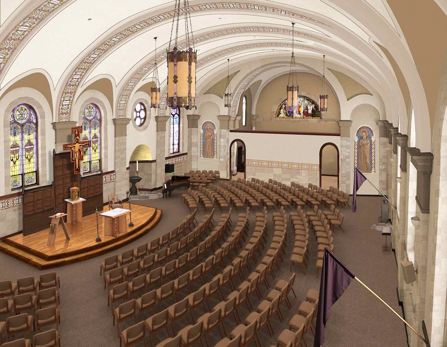 Catholic church renovations remodeling restoration for Church interior designs pictures