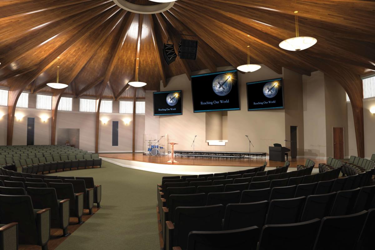Contemporary modern renovations church sanctuary for Church interior designs pictures