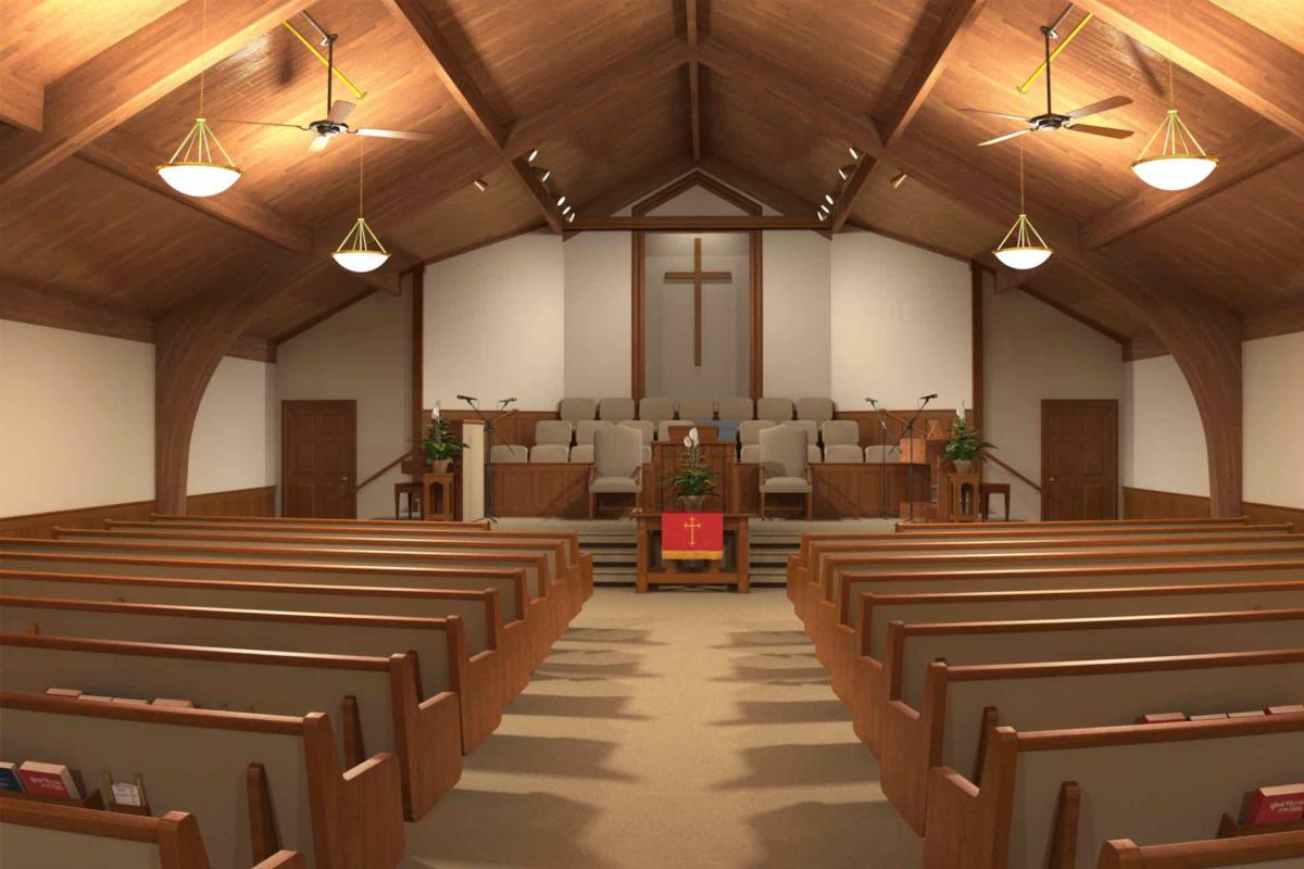 Traditional church sanctuary renovations church interiors for Church interior designs pictures