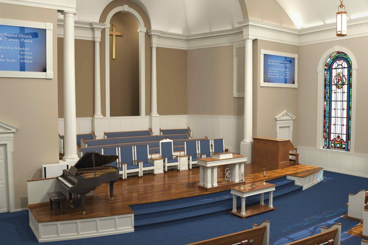 Traditional Church & Sanctuary Renovations - Church Interiors