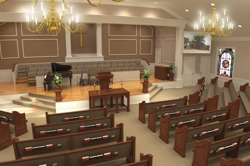 Elegant Gallery Of Renderings. Church Interiors ... Amazing Design