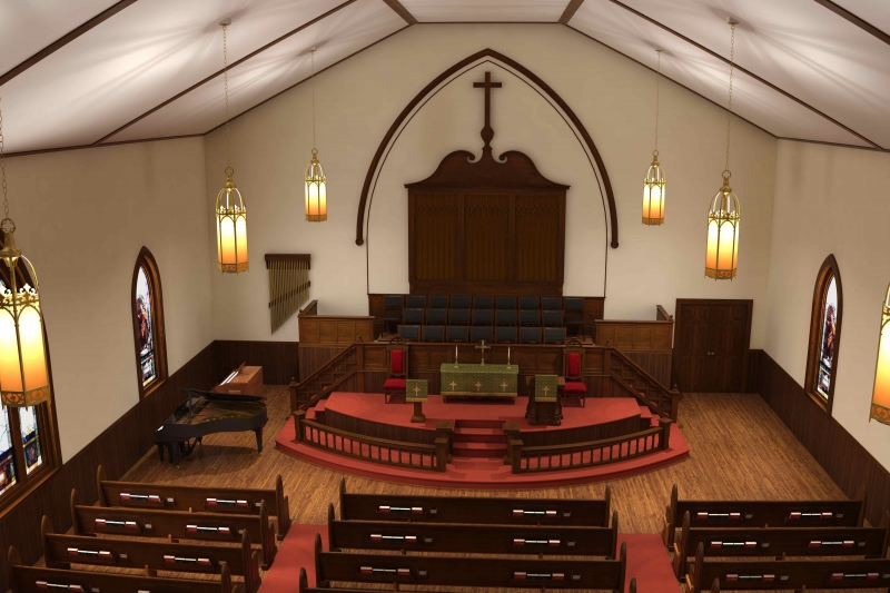 Gallery Of Renderings. Church Interiors ...