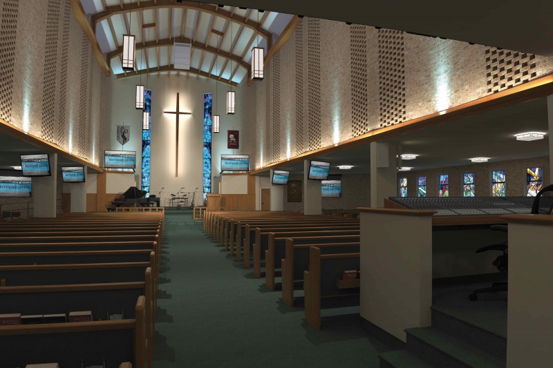 Attrayant Gallery Of Renderings. Church Interiors ...
