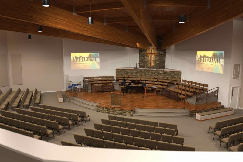 Gallery Of Renderings Church Interiors
