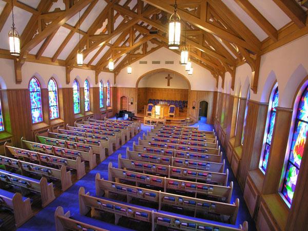 Led retro fit church lighting church interiors inc after retro fit lighting aloadofball Images