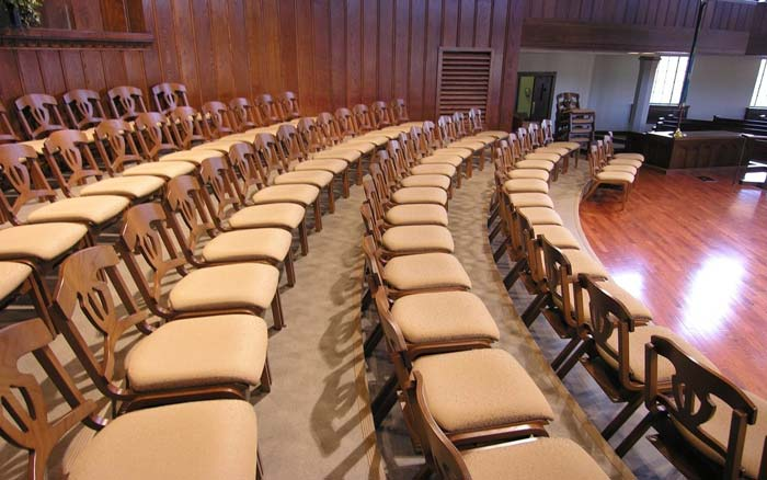 Round formation choir chairs