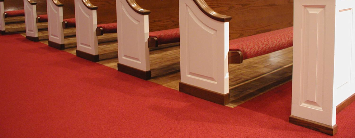 Church Carpet on Slab Wood Furniture Designs