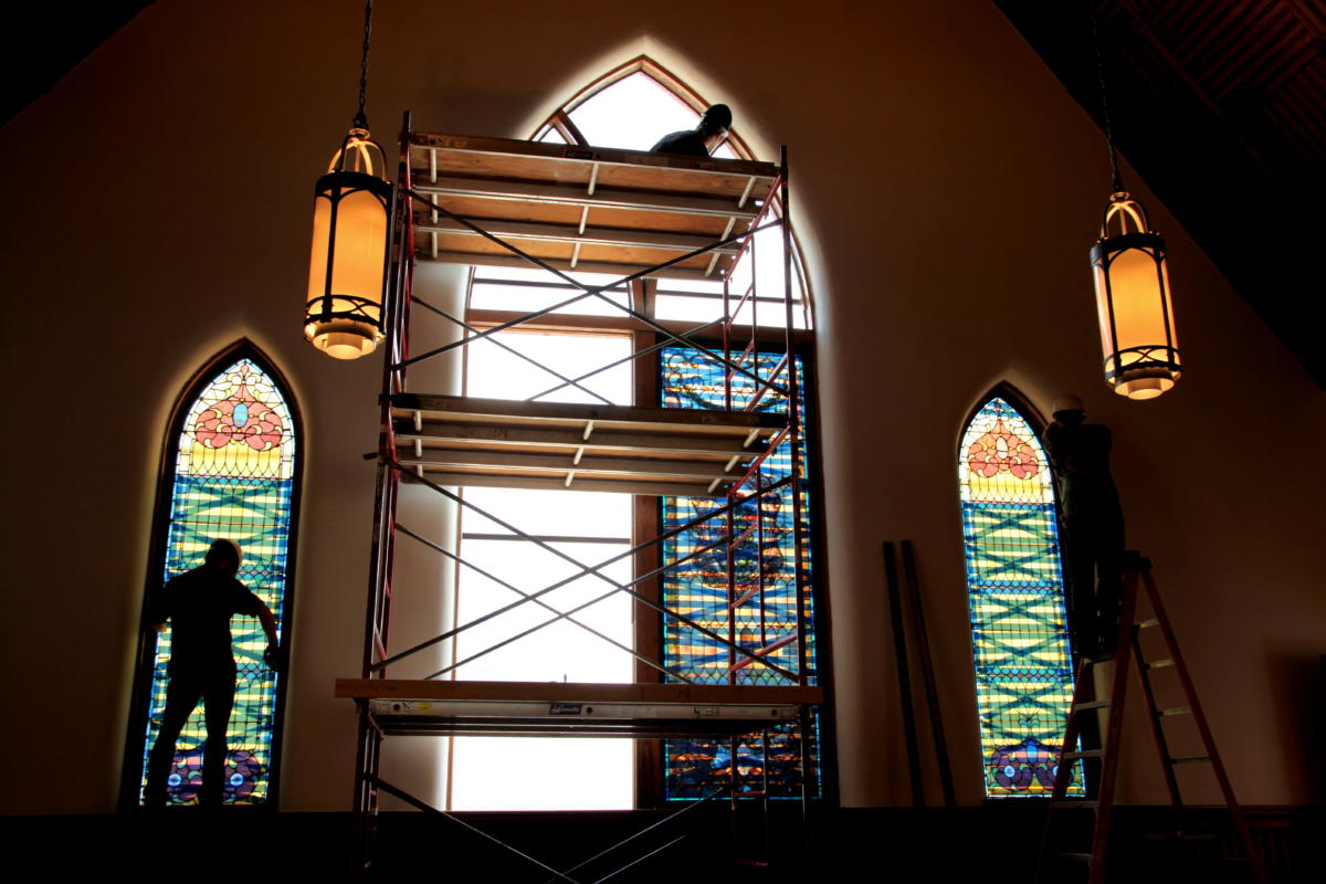 Church Interiors Stained Glass Restoration 6