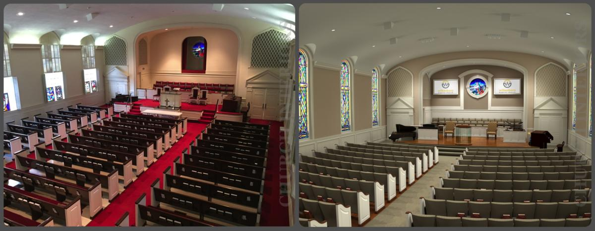 Before Amp After Comparison Images Of Projects By Church Interiors