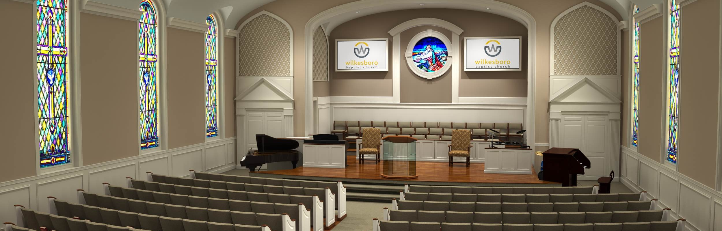 church with pin design interior pinterest flooring hardwood stage choir