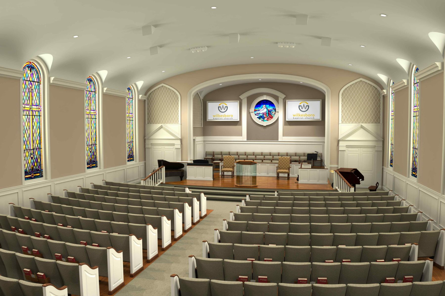Wilkesboro-Baptist-Church-Renovation-Theater Seats