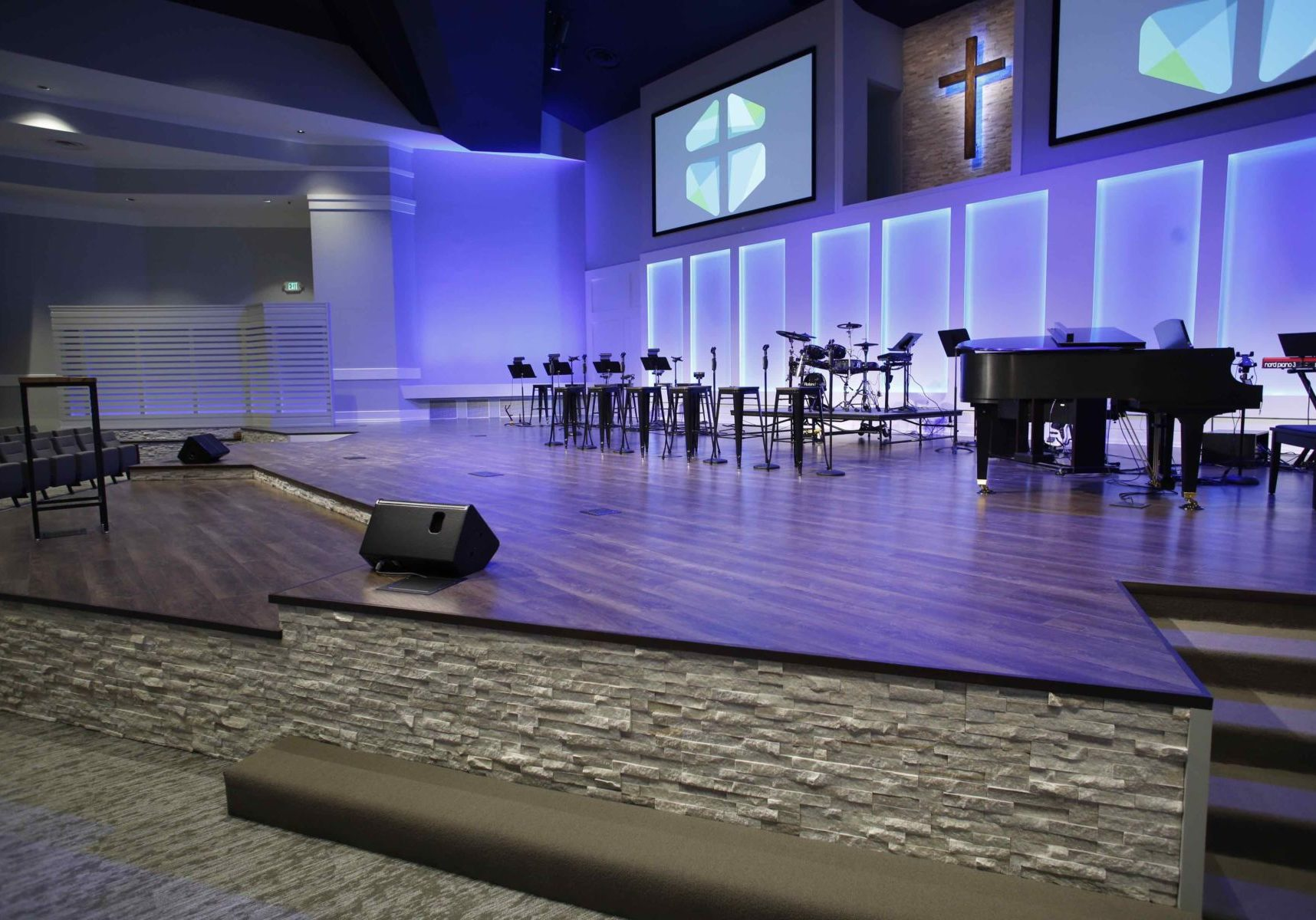 Church-Stage-LVT-Flooring